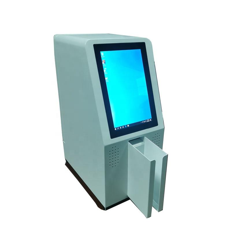Mini desktop card dispenser kiosk used in office with Windows system