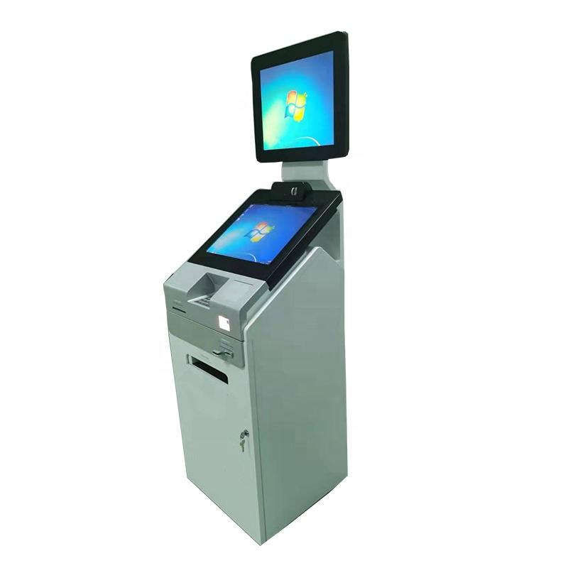 OEM Self service payment and print kiosk in hospital with bar code and ID card scanner