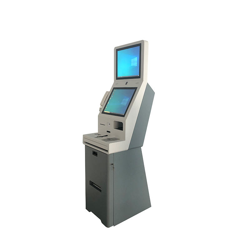 Hotel Check In Card Reader Cash Payment 24 Free Standing Self Serving Kiosk With Camera