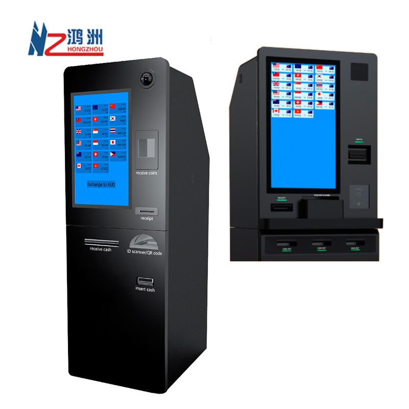 ATM kiosk foreign currency exchange machine with credit card reader
