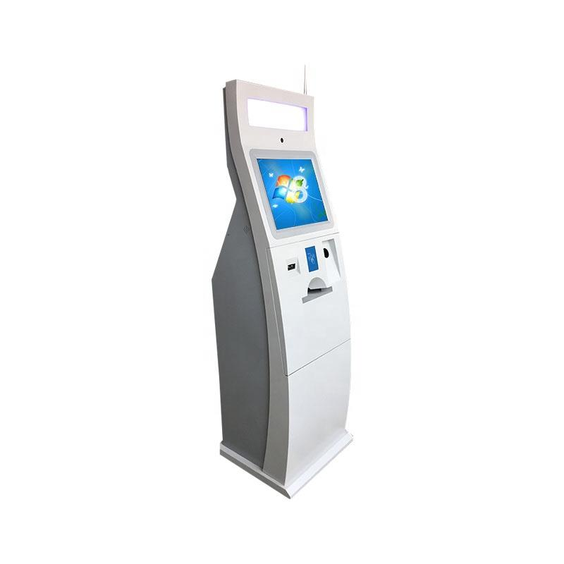 Touch screen kiosk with card dispenser interactive ticket for retail in shopping mall