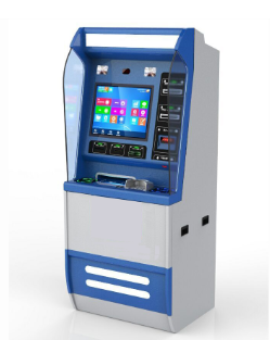 interactive self service pay clinic medical care kiosk terminal supporting bank card and social security card pay