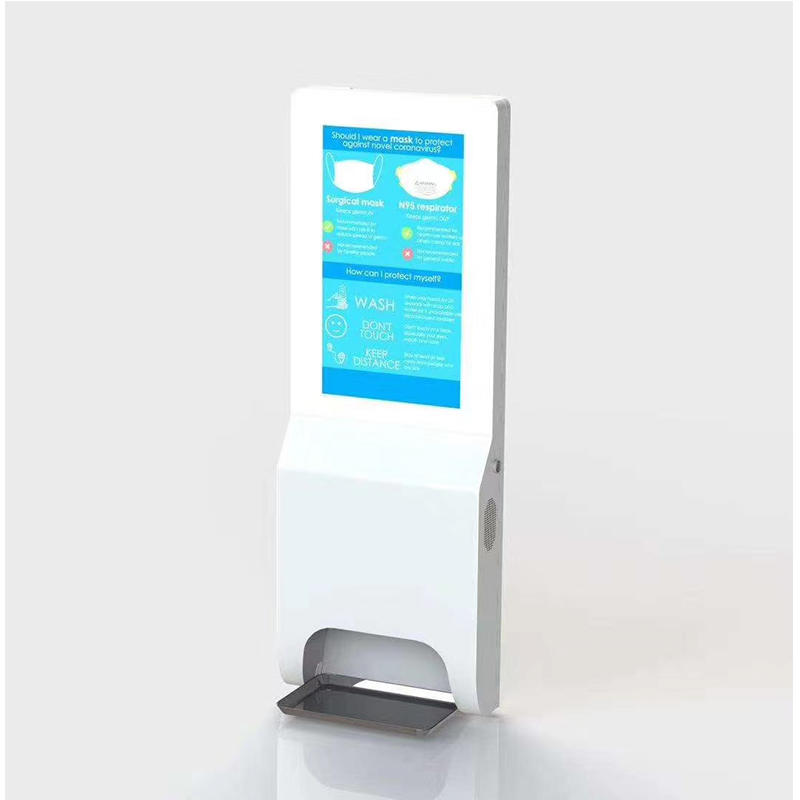 high quality indoor lcd digital signage display touchless automatic soap hand sanitizer dispenser