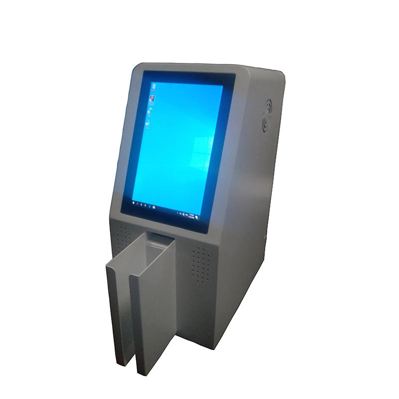 desktop card distribution kiosk for floating population management