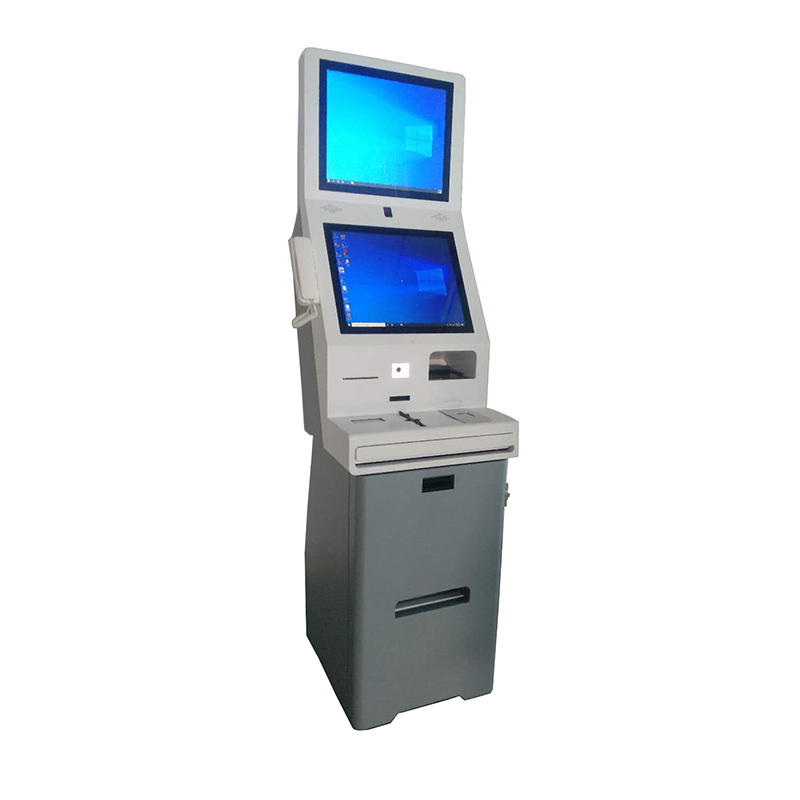 double screen digital signage kiosk for 5 star hotel with easy operate checkin checkout