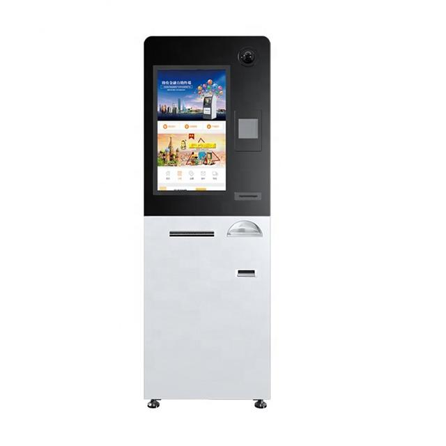 19 inch all-in-one automated hotel check-in/check in Internet Touch screen payment mall kiosks bill pay self kiosk