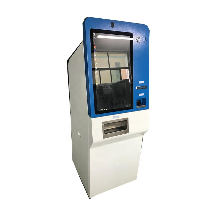 LED capacitive touch screen coin-operated kiosk with scanner thermal printer