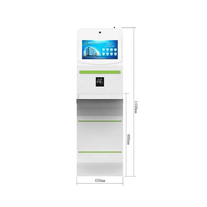 OEM libarary kiosk with RFID card reader for self service book borrow and return