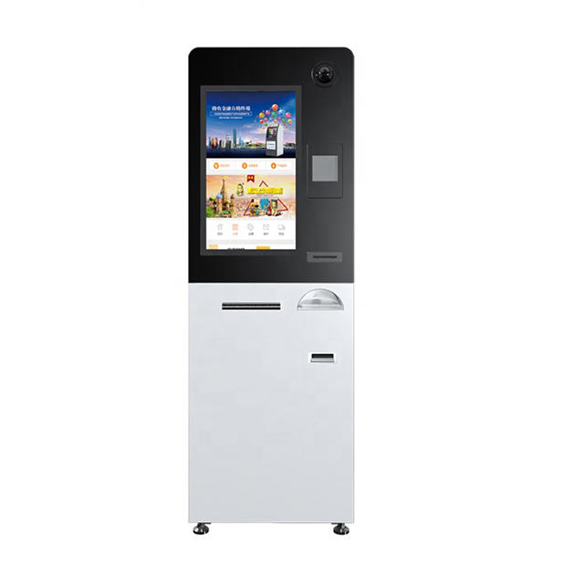 Self Service Payment Kiosk With Card Dispenser And Printer For Mall And Hotel