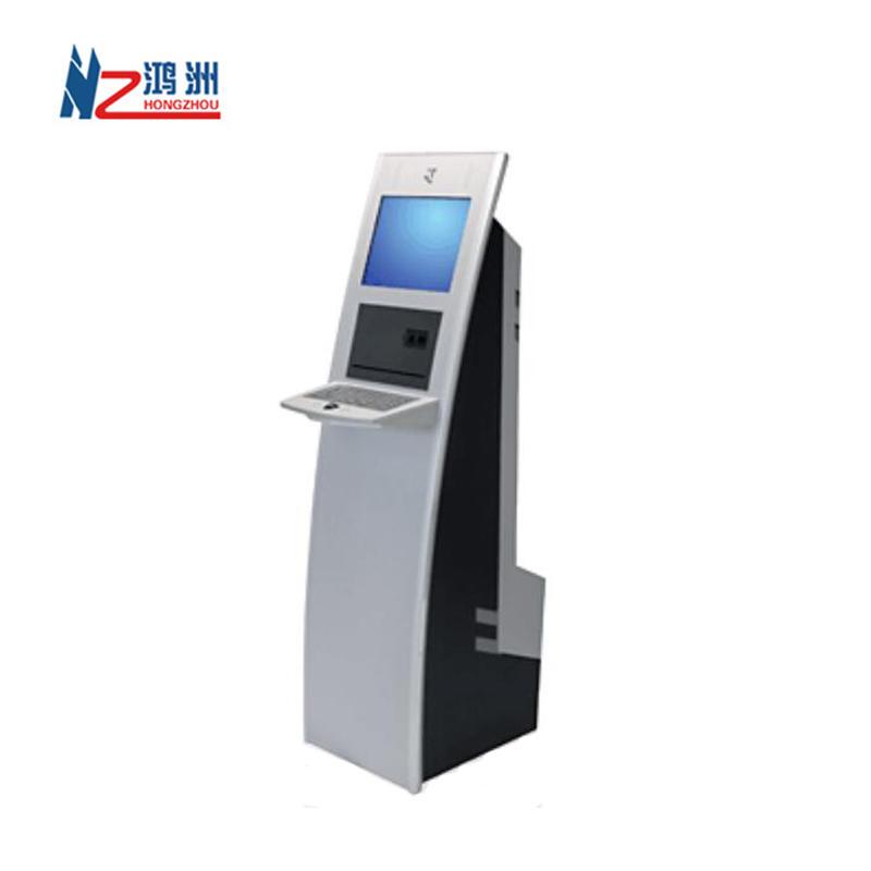 Hotel self service check in kiosk with thermal printer