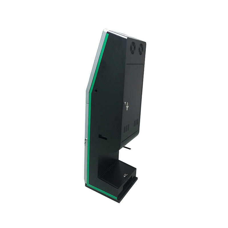 dual screen touch screen hotel check in self-service interactive payment kiosk