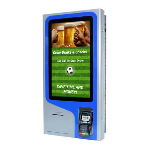 Freesranding payment interactive self service ordering Kiosk