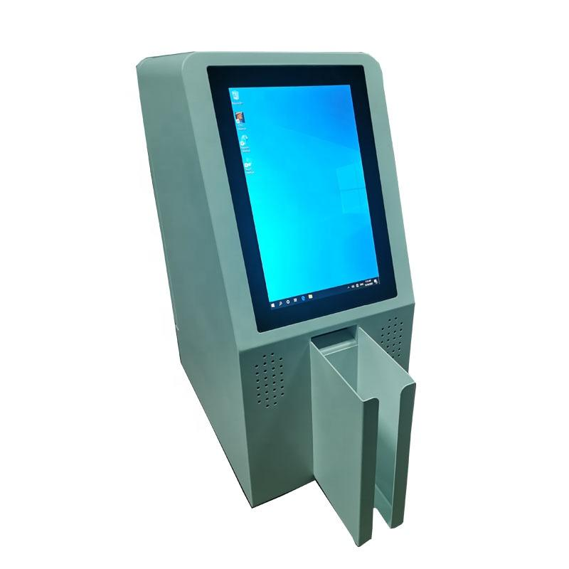 Automatic desktop card dispenser kiosk with speaker