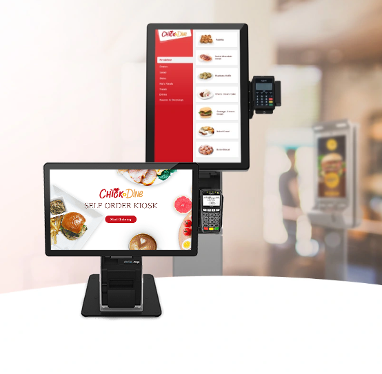 all-in-one touch screen online ordering kiosk