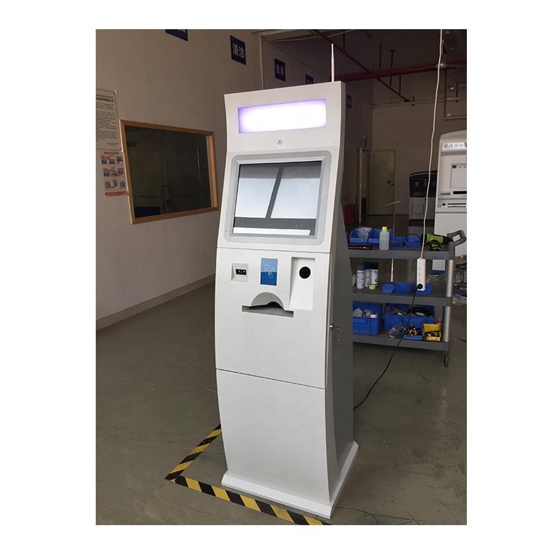 Customized dual touch screen card dispenser kiosk for vending in shopping mall