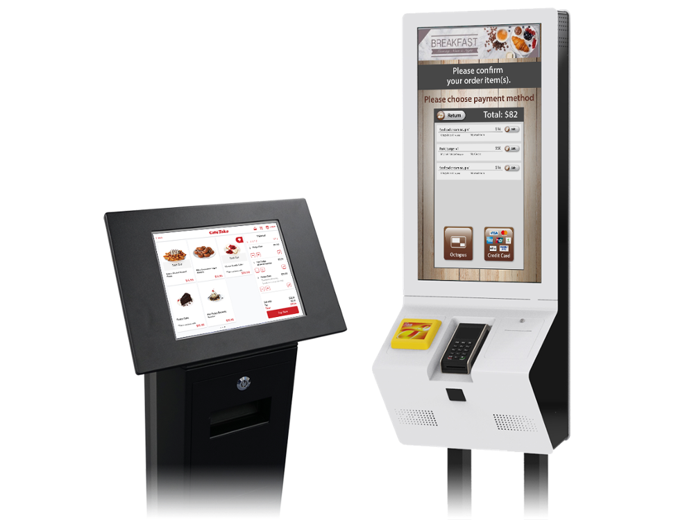 Innovative Self Service Payment Ordering Kiosk in Restaurant with Ticket Printer
