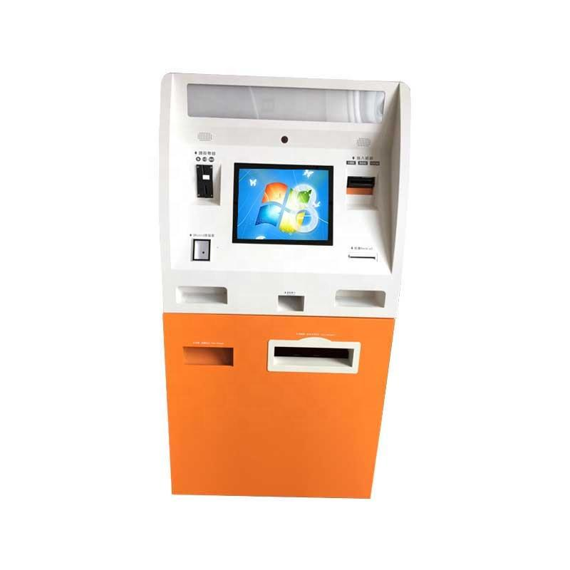 Competitive price ATM kiosk for cash payment and accept in bankwith card dispenser function and scanner Shenzhen manufacturer
