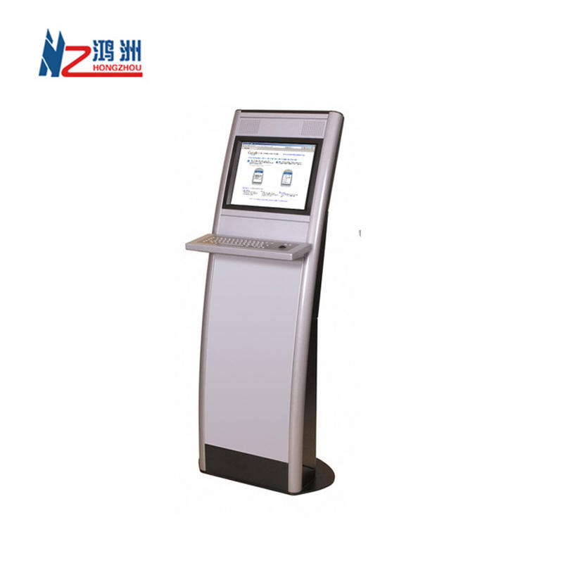 Floor standing LED interactive touch screen all in one kiosk in hotel