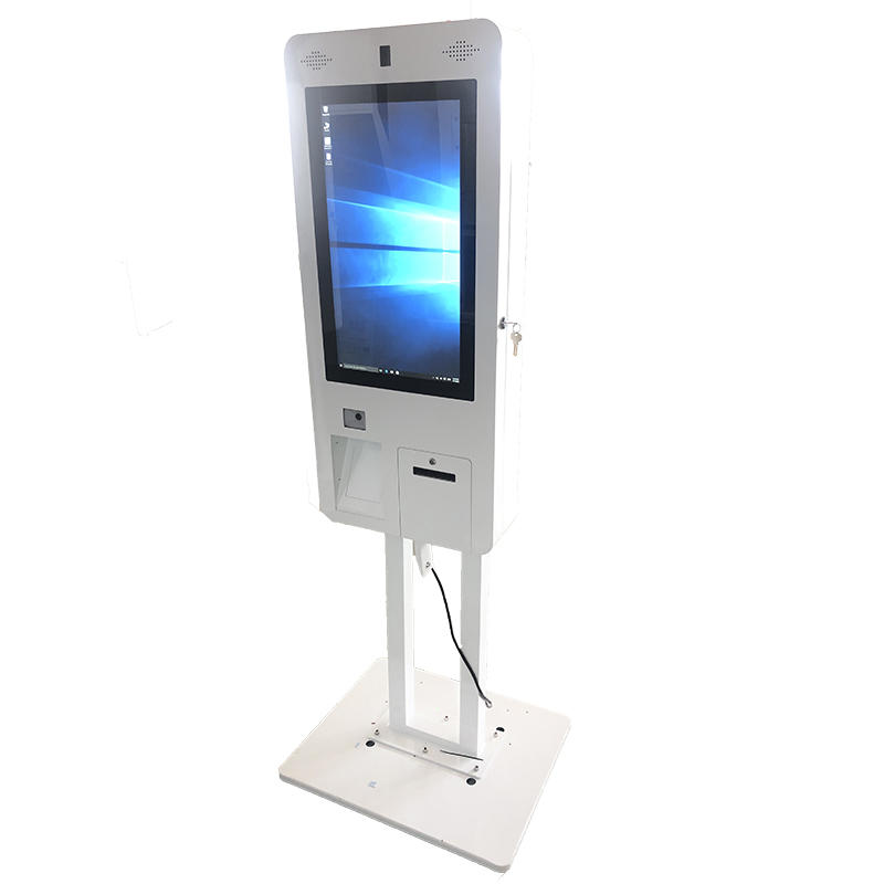 Free Standing Automatic Self Service Ordering Payment Kiosk