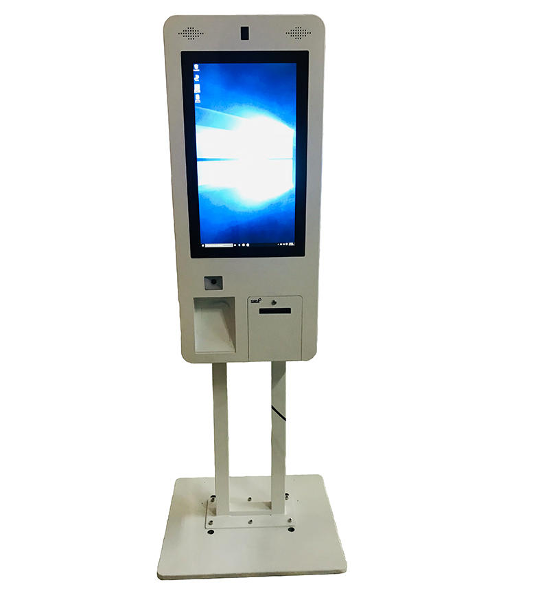 standing smart digital signage self order restaurant kiosk
