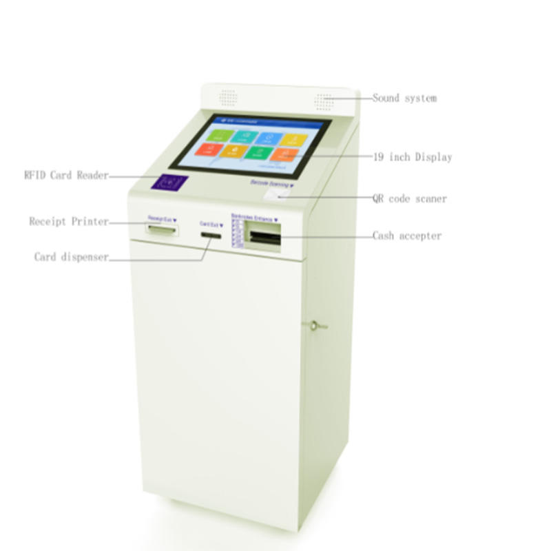 digital signage stylish kiosk with paying function
