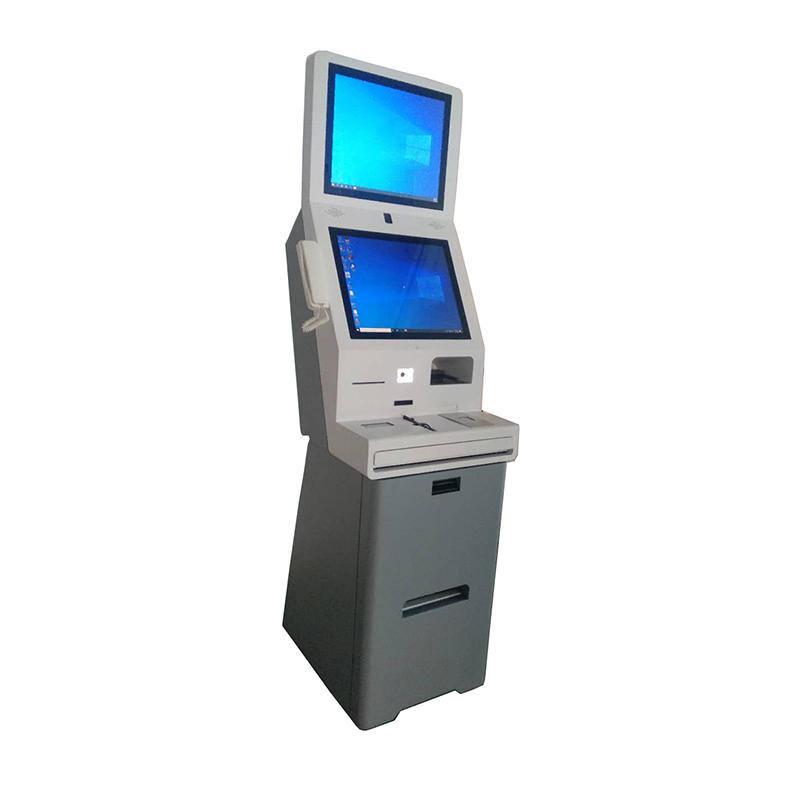 interactive movable hotel kiosk for clients' checkin checkout freely