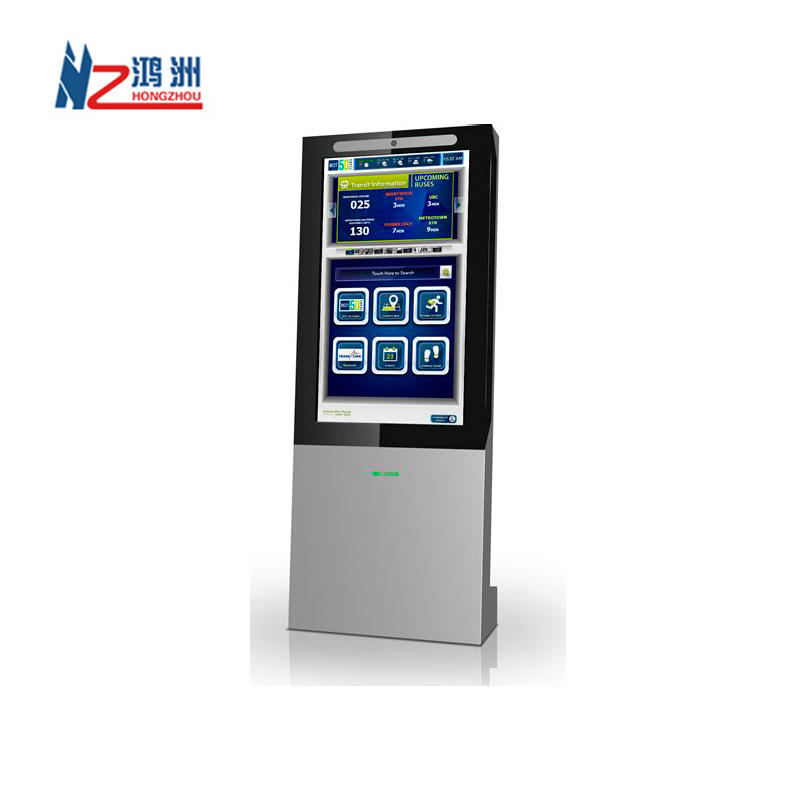 Dual Screen Slim Touch Screen Information and Payment Kiosk