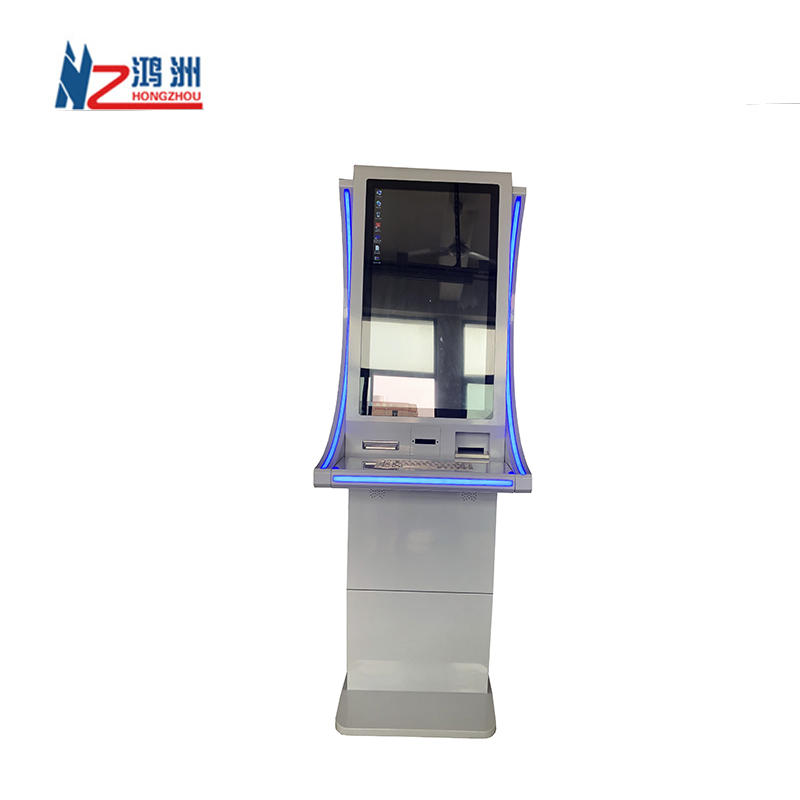 Touch Screen Free Stand Hotel Self Check In Card Dispenser Machine Kiosk