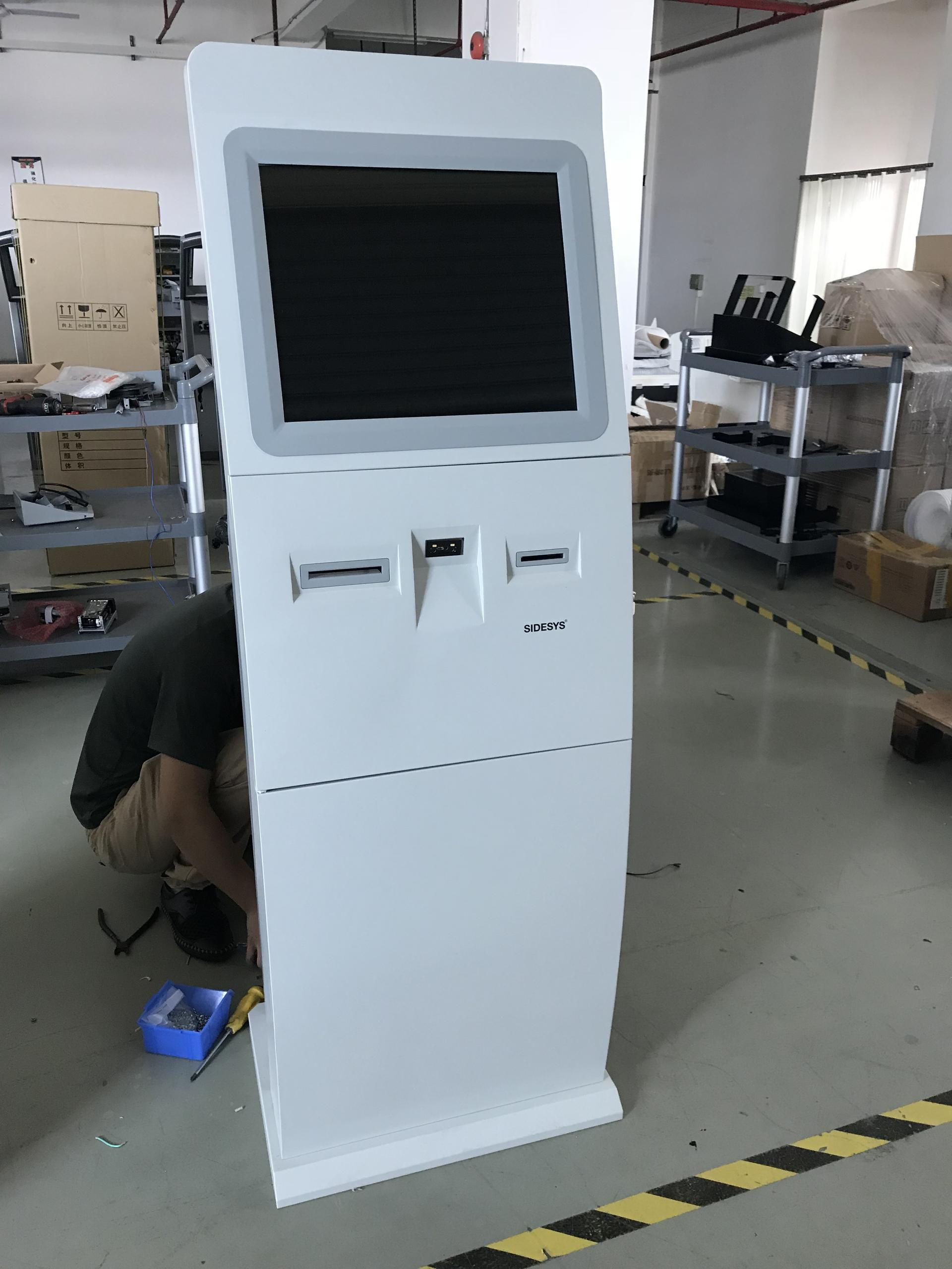 Free Standing 19 Inch Touch Screen Self Service Check-in Kiosk