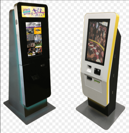 standing advertisement display kiosk with 43'' screen