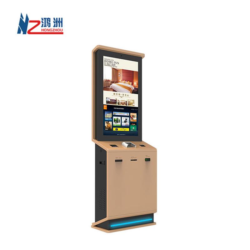 Custom design lobby touch screen kiosk with fingerprint and passport scanner Shenzhen kiosk supplier