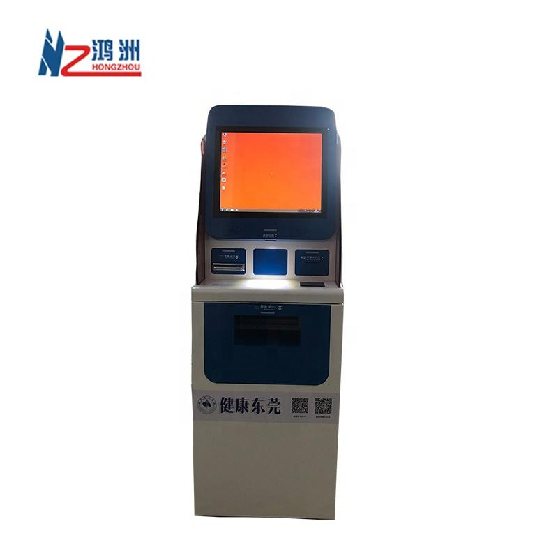 OEM multi self-service print kiosk in hospital health card reader and with fingerprint and scanner