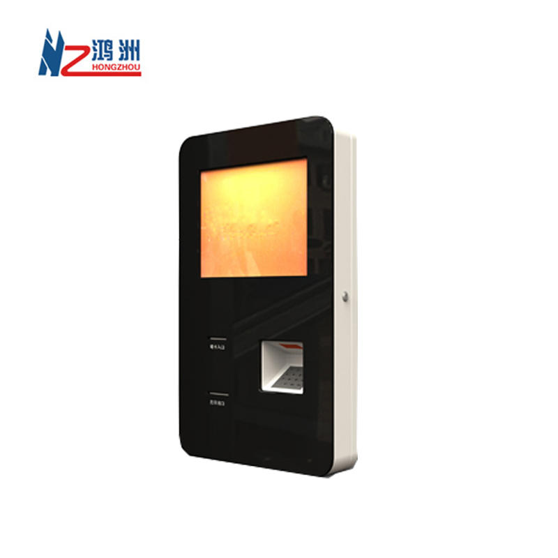 17 inch wall mounted touch screen kiosk with barcode and printer