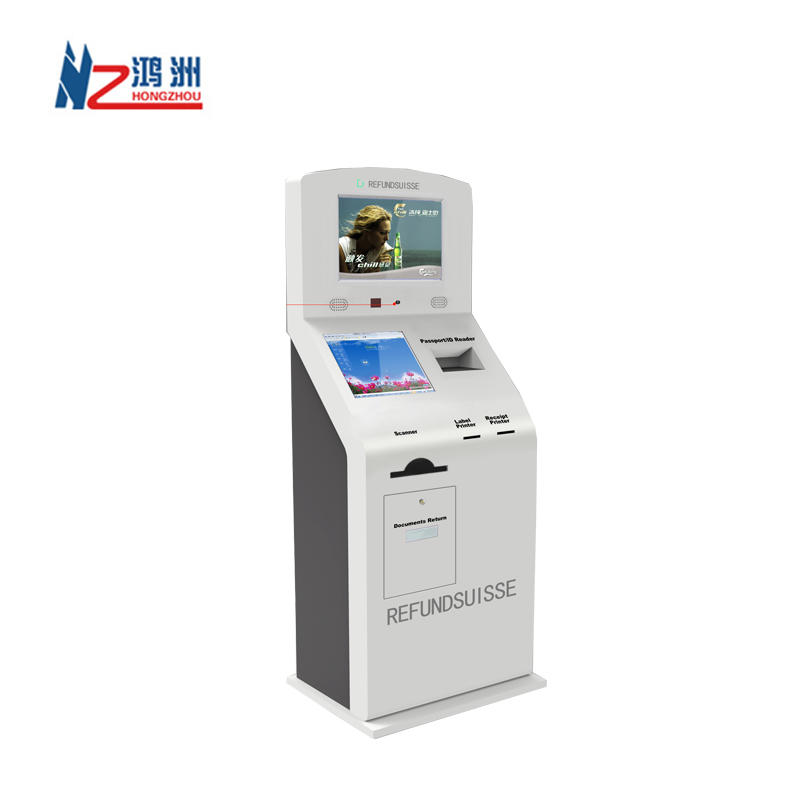 Multi function touch screen parking kiosk machine for mall