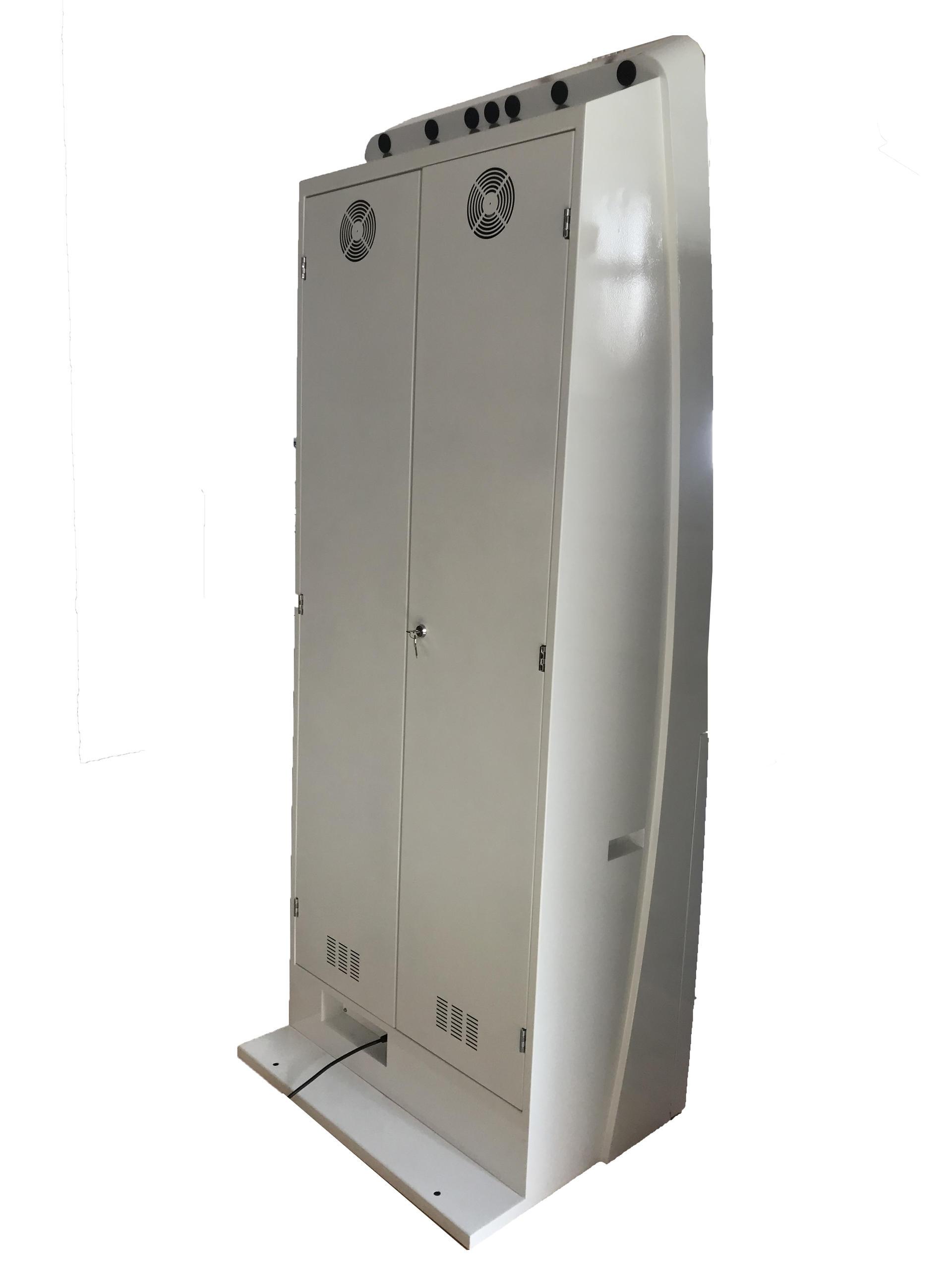 Floor standing hospital self service medical record printing kiosk