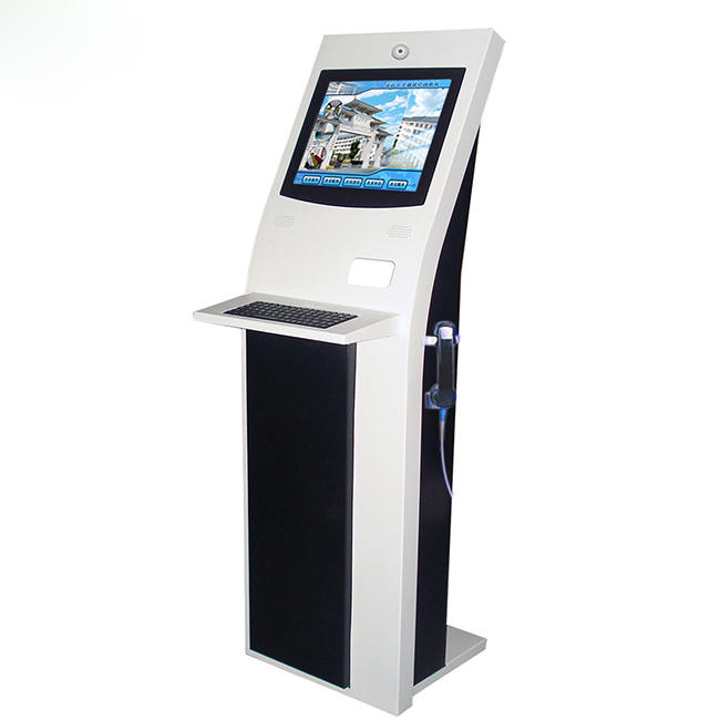 17 inch touchscreen library kiosk for return and borrow books