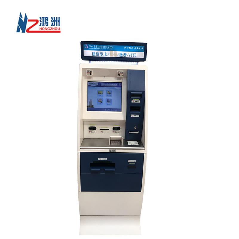 Lcd Monitor Sim Card Dispensing Housing Qr Code Scanner Note Recycler Hospital Kiosk