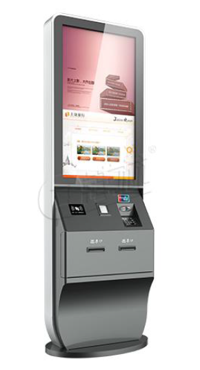 digital signage self service kiosk for hotel's guest check in check out