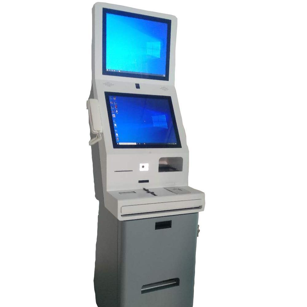 Cash Payment ATM Machine Touchscreen Checkin Kiosk For Hotel