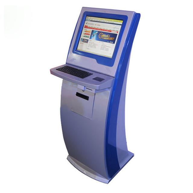 Self service check in hotel ordering ticket printer kiosk touch hotel key card dispenser kiosk