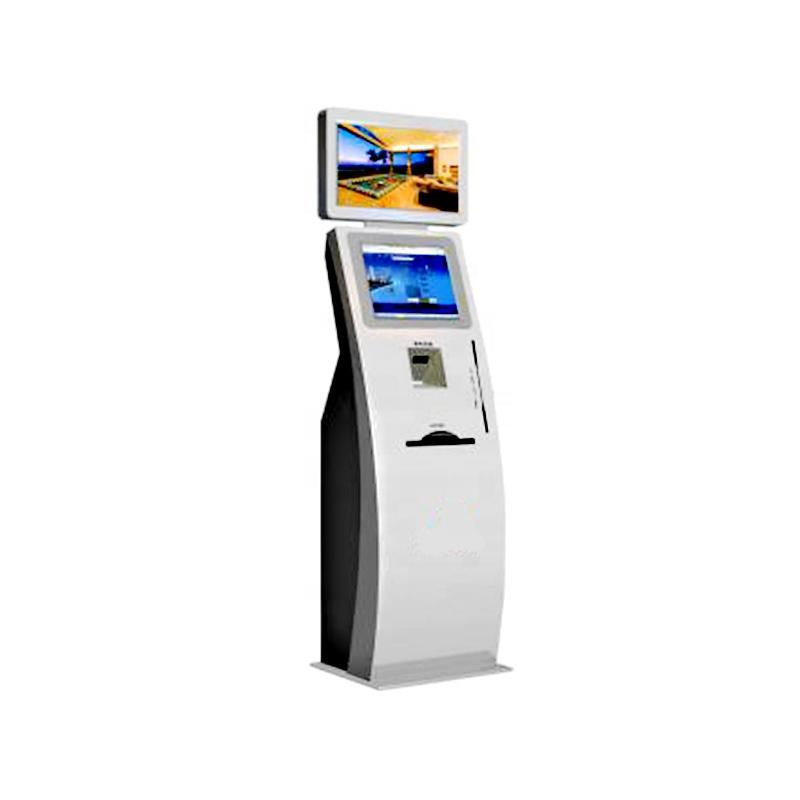 Customized information kiosk with WIFI ID card scanner A4 laser printer
