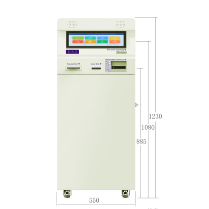 digital signage card dispensing kiosk with paying function