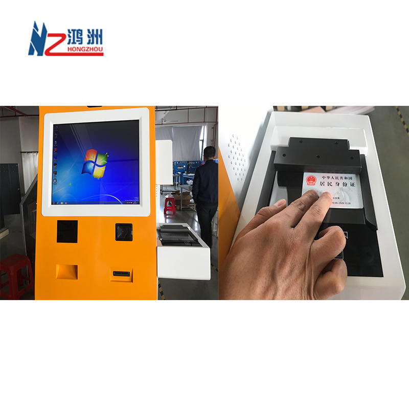 Customized Self Service Hotel Check In Kiosk with Room Card Dispenser