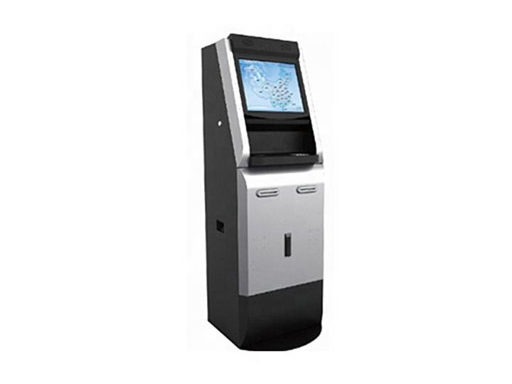 19 inch digital display kiosk with scanner printer coin operated module