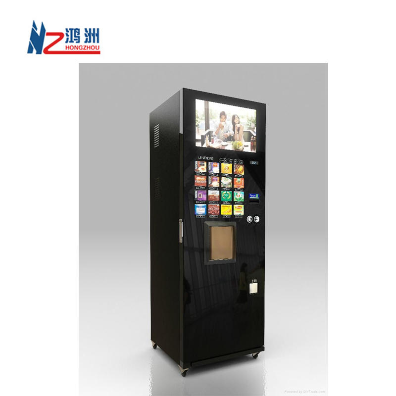 Indoor vending kiosk design and process in house for drink and snacks