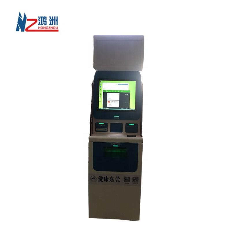 Multi function payment interactive kiosk in hospital for printing medical report