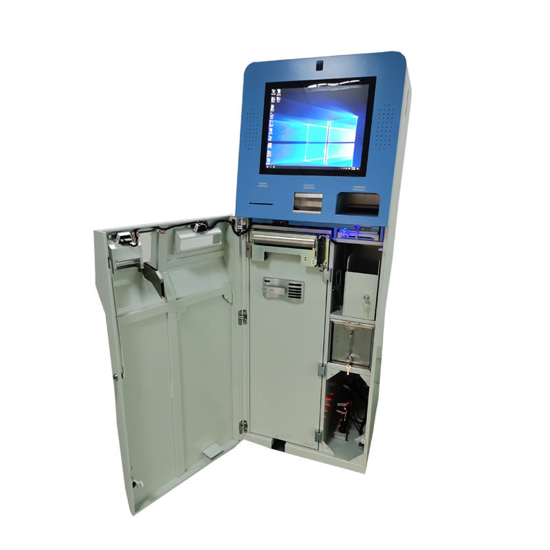 OEM currency exchange ATM kiosk for coin and cash with Glory cash dispenser in hotel