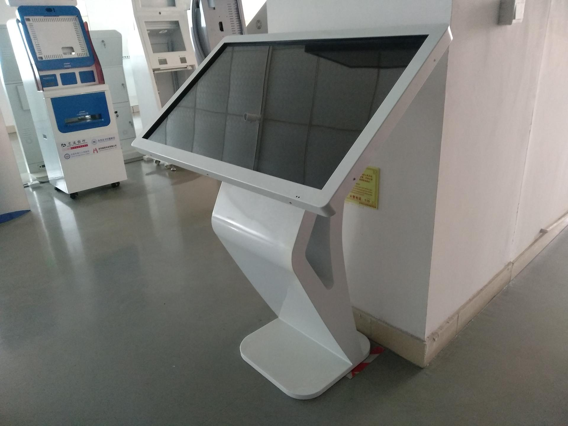 advertisement playing kiosk with clear and big LCD screen