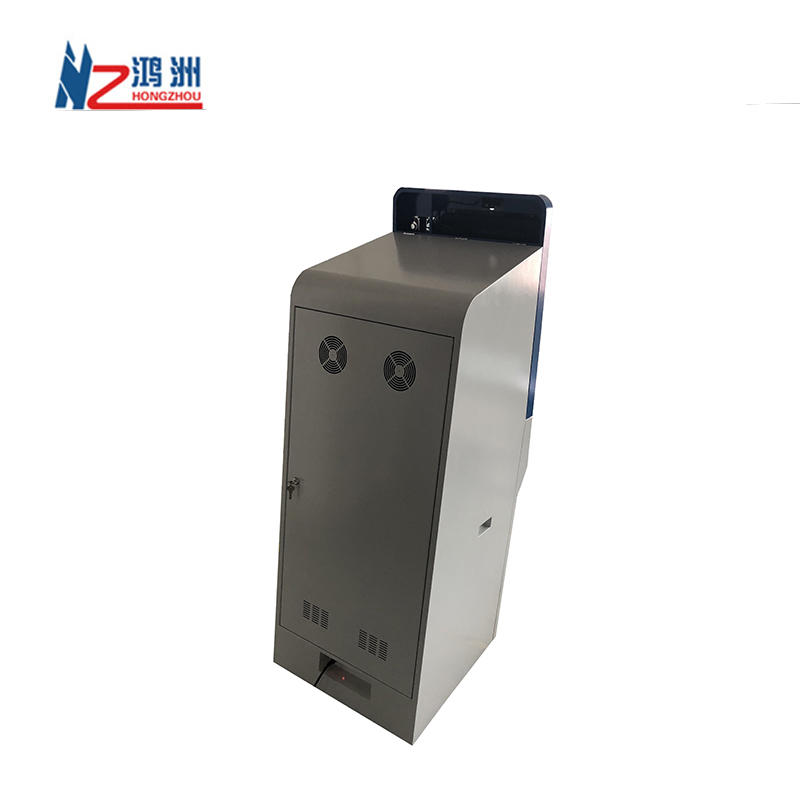 Self-service foreign currency exchange ATM touch screen payment kiosk