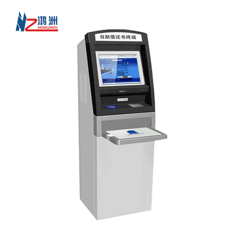 Interactive information self service kiosk with receipt printer and RFID card reader